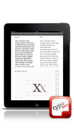 Typobase for iPad